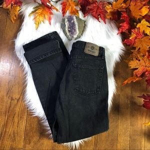 VTG WRANGLER HIGH WAIST BLACK MOM JEAN // 28